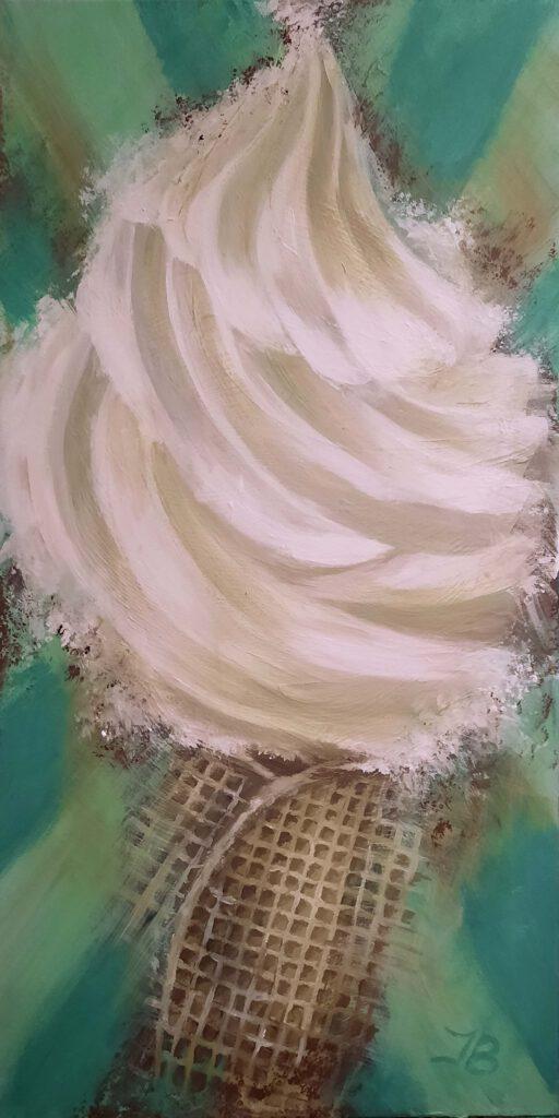 SOFTEIS (VERKAUFT) · Format: 50 x 100 cm · Tiefe: 35 mm